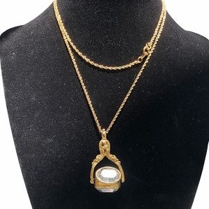 JOAN RIVERS FACETED CLEAR CRYSTAL PENDANT